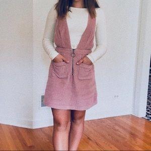 O ring zipper mauve dress